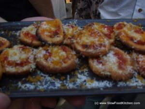 Red Pepper Bottarga Canapes