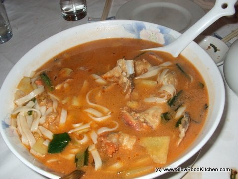 Crab soup noodles
