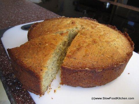 Semolina Sponge Cake with Almonds, Hazelnuts, Greek Yoghurt and Honey