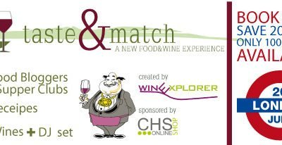Taste & Match The London Edition – An Italian Food and Wine Matching Event