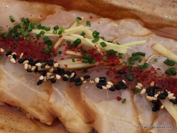Hot Splash Sashimi with Ponzu and Korean Pepper