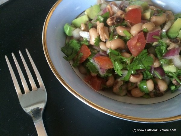 Brazilian Black Eyed Bean Salad  or Salada de Feijao Verde (In Association with Magimix)