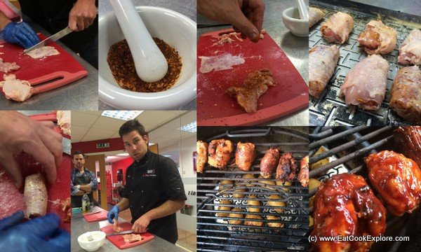 Crispy skin spicy barbecue sauce chicken Weber BBQ Masterclass