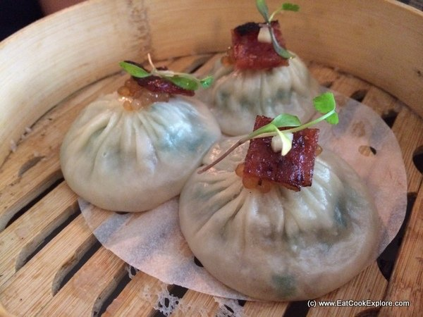 Shanghai dumpling wuth Glazed Dried Pork