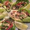 Leftover turkey lettuce wraps
