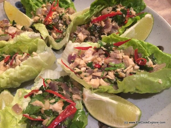Thai Style Leftover Turkey Lettuce Wraps