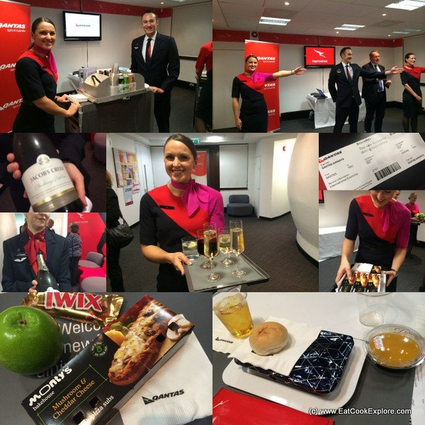 qantas new economy class meals launch in London