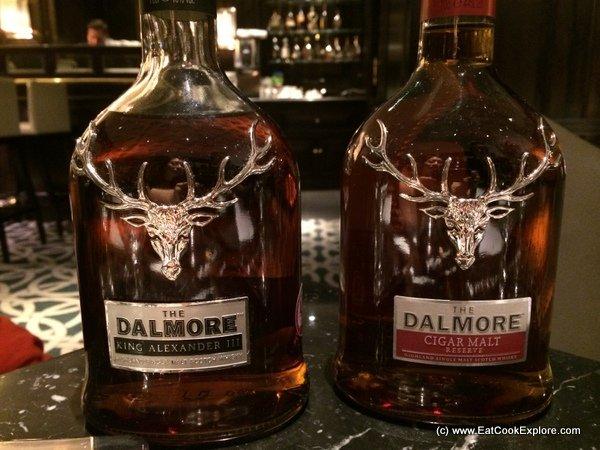 Game menu and Dalmore Whisky Tasting