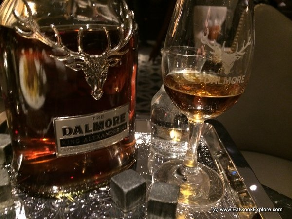 Game menu and Whisky Tasting