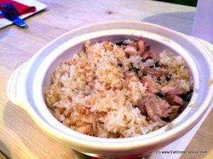 Hong Kong cooking Claypot Chicken and Mushroom Rice