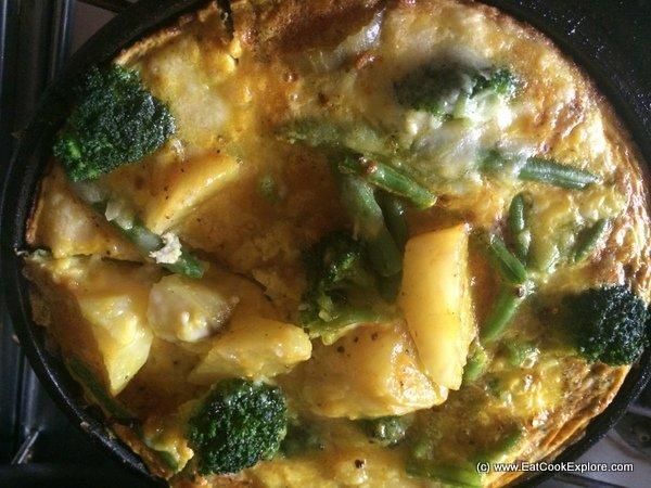 Superfood Frittata with Sweet Potatoes, Broccoli and Turmeric