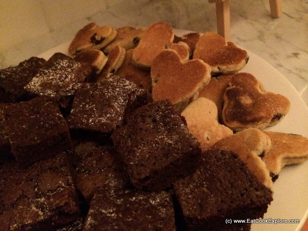 Welsh cakes and chocolate brownies by