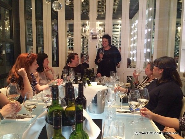 Lisa Mc Guigan introducing her wines at the wine matching dinner