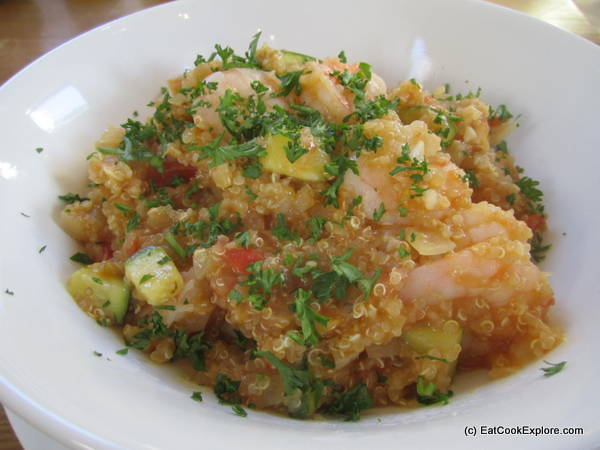 Prawn Quinoa Risotto or Quinotto – Cooking Peruvian with Encona Sauces