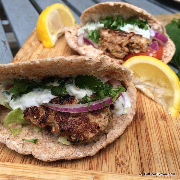 Greek Style Lamb Burgers using Welsh Lamb