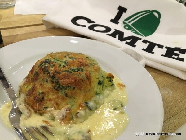 Twice-baked Spinach & Comté soufflés