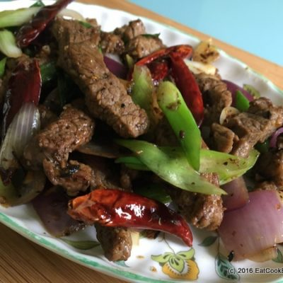 Easy Stir Fried Lamb with Cumin and Chilli