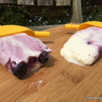 Blueberry Yoghurt Ripple Ice Lollies