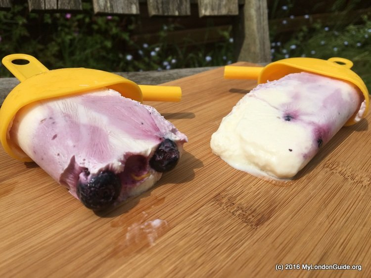 Blueberry Yoghurt Ripple Ice Lollies