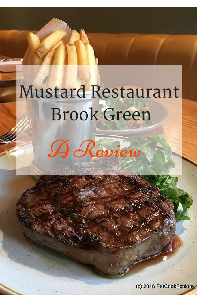 A Review of Mustard Restaurant , A British Brasserie in Brook Green