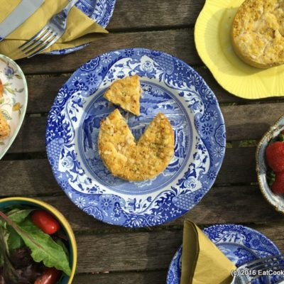 Ham Hock and Pea Quiche for an Alfresco lunch