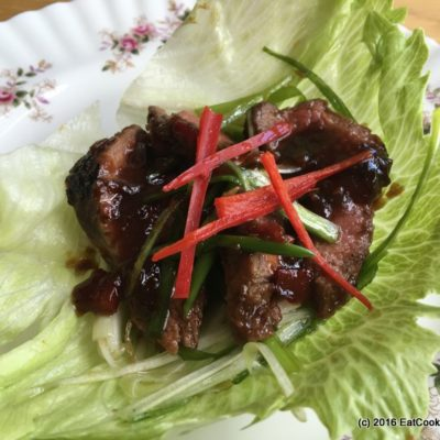 Korean BBQ Steak lettuce wraps