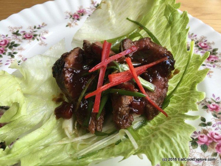 Korean BBQ Steak lettuce wraps