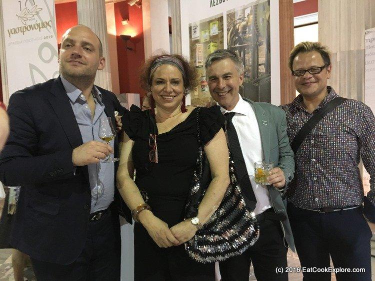 International Media - Carlos Passeara, Greek Journalist, Adrian York and Spyros Theodoridis (winner of Italian Masterchef)