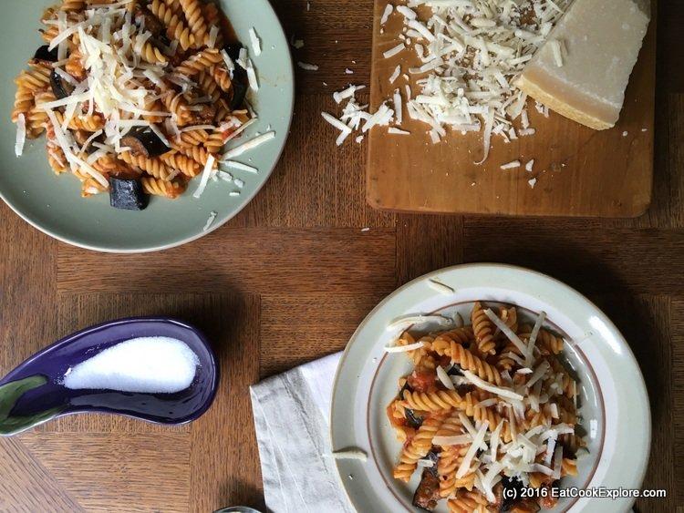 Sicilian Pasta Alla Norma Fusilli with Roasted Aubergines in Tomato Sauce Recipe