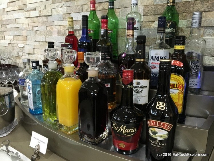 Self Service Bar in the Emirates Lounge