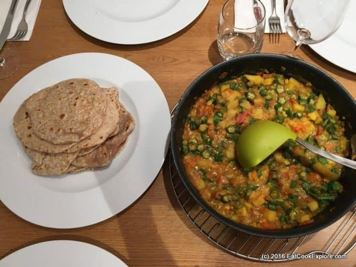 Karahi Okra and potato curry