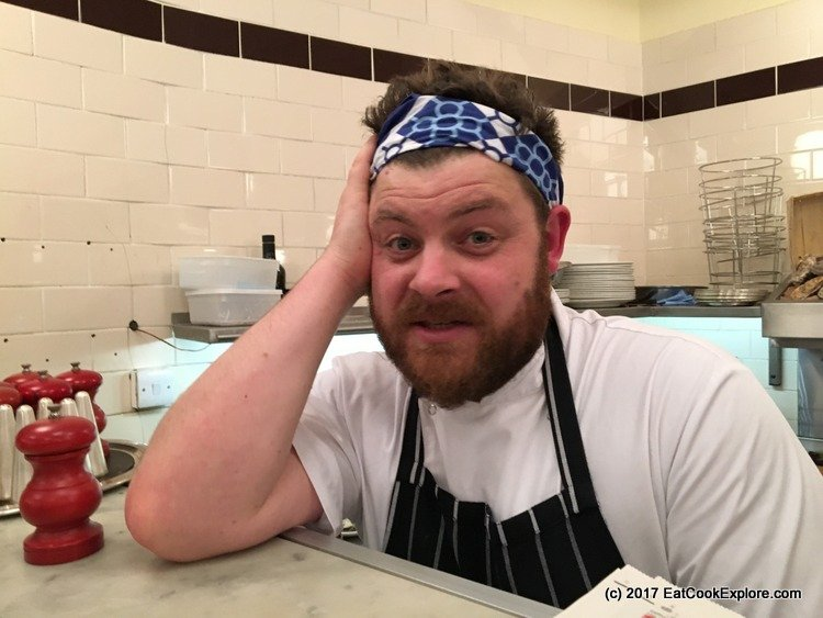 Simon Lamont of Shuck Looking bewildered