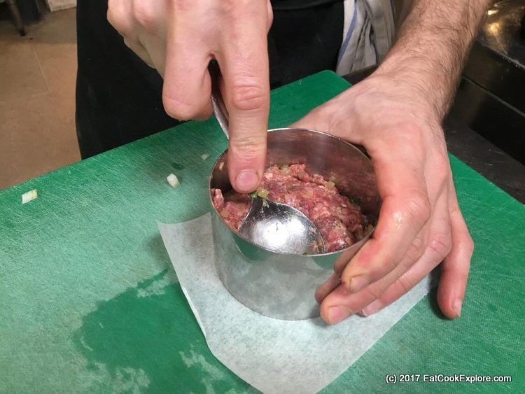 Shaping burger patties