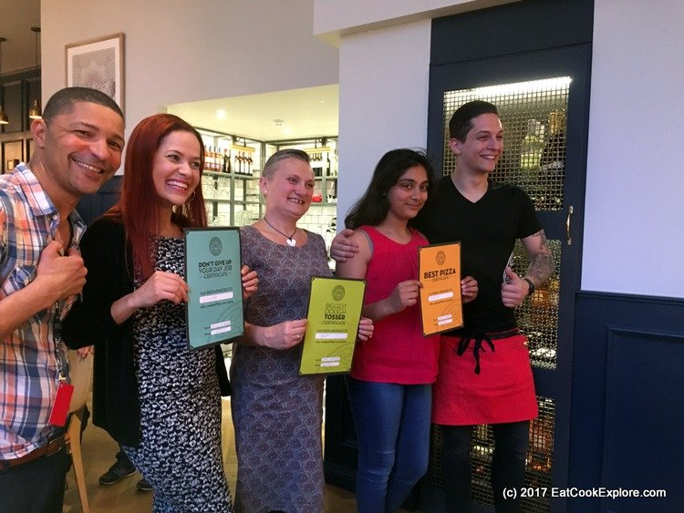 Pizza Express Pizza Making Party Prize Winners