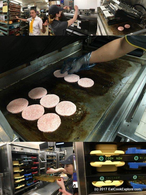 McDonalds burger making