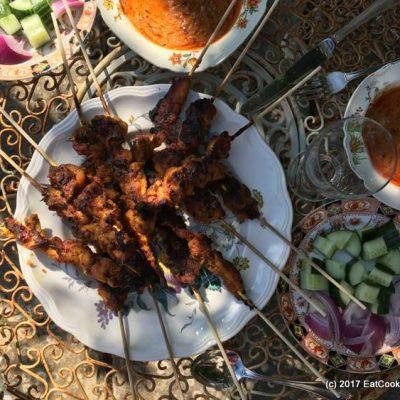 Grilled Malaysian Chicken Satay Recipe