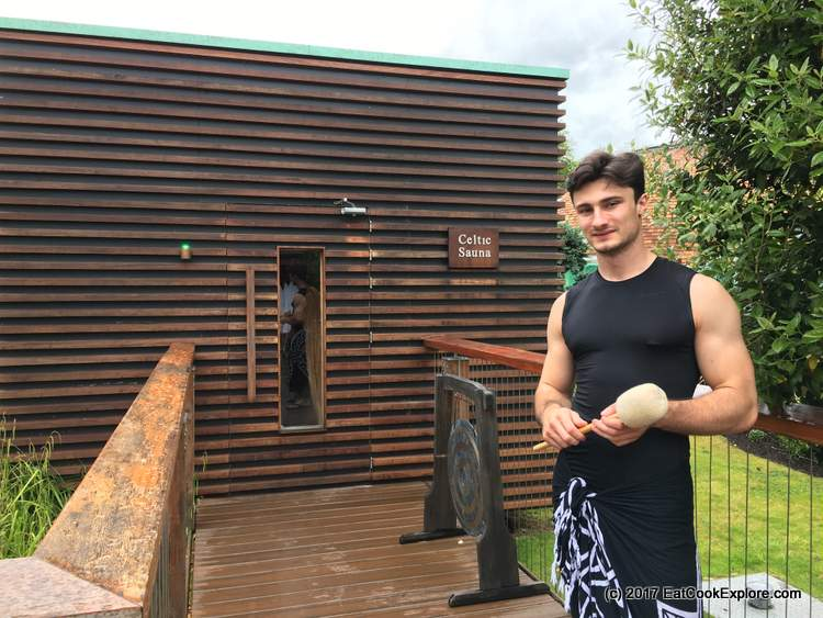 Celtic Sauna - Here's your Sauna Master for the Finnish Aufguss sauna ritual at Galgorm Resort and Spa