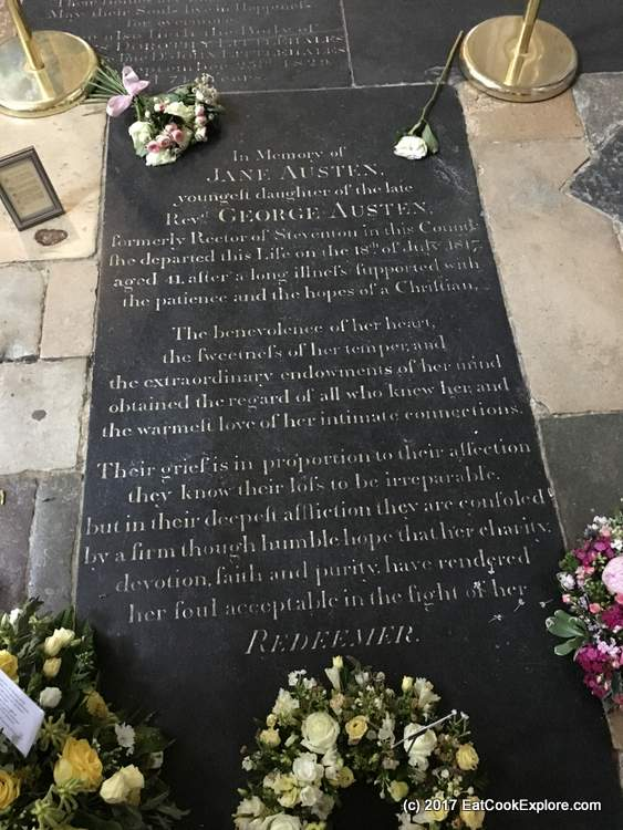 Winchester Cathedral Jane Austen's resting place