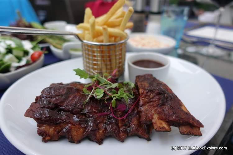 Dingley Dell pork short ribs withsticky maple glaze