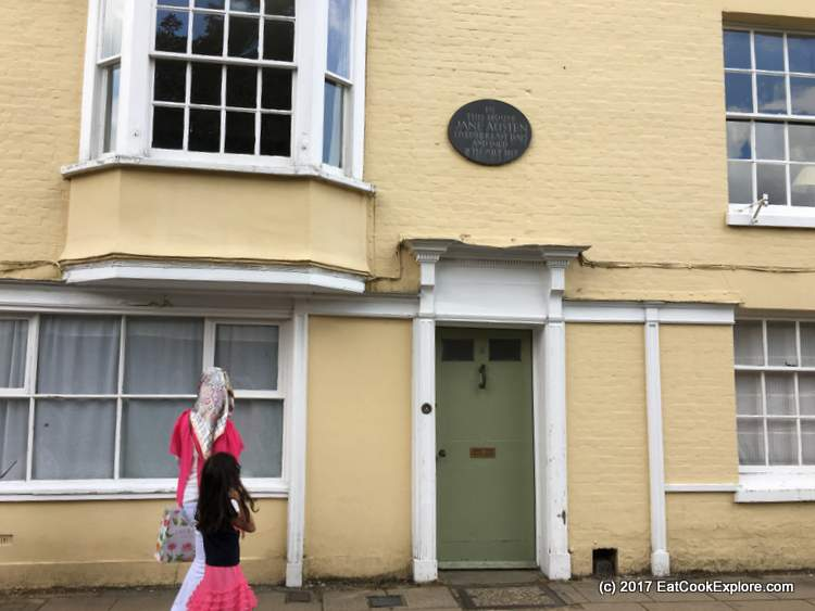 The House where Jane Austen died in Winchester