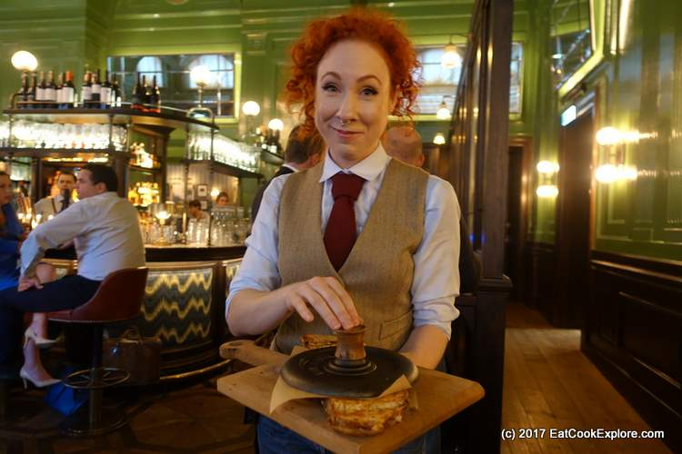 The XXL stovetop cheese toastie The Wigmore Tavern at The Langham Upper Regent Street (155)