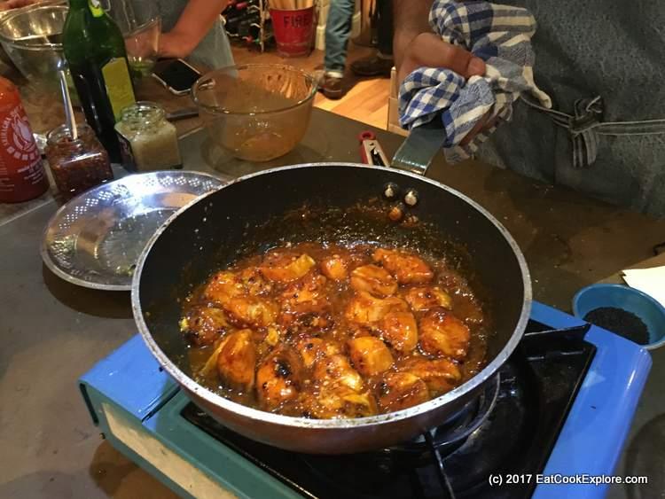 Honey Sriracha Chicken stir fry