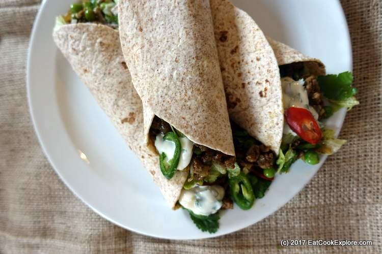 Spicy Minced Lamb Wrap for Curry Week