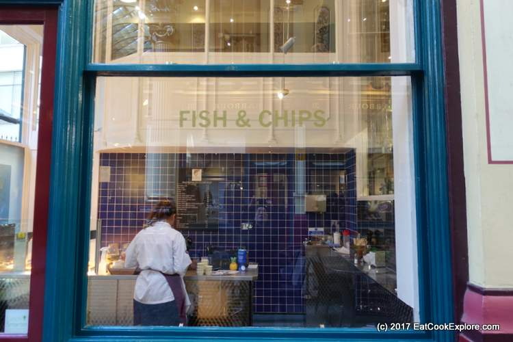 Chamberlains fish and chips leadenhall market eat cook for Chamberlain s fish market