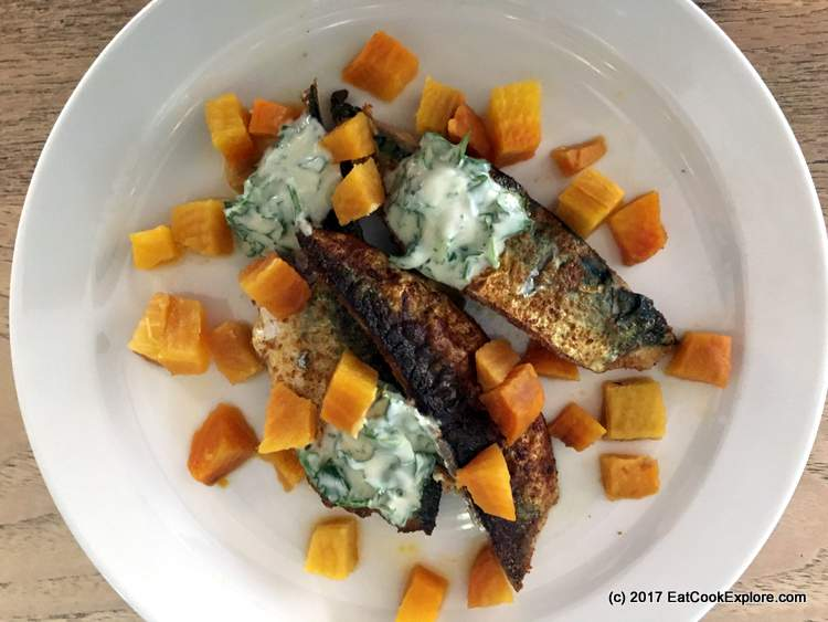 Easy Midweek Fish Supper Crispy Mackerel with pickled beetroot