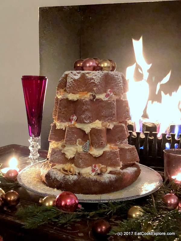 Pandoro Italian Christmas Cake with Tangerine and lemon flavour
