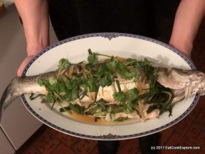 Steamed Sea Bass Chinese Style