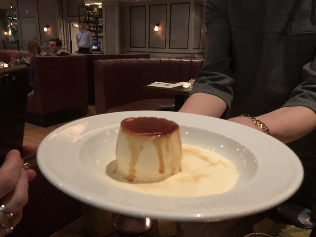 Best Creme Caramel in London Cote Brasserie