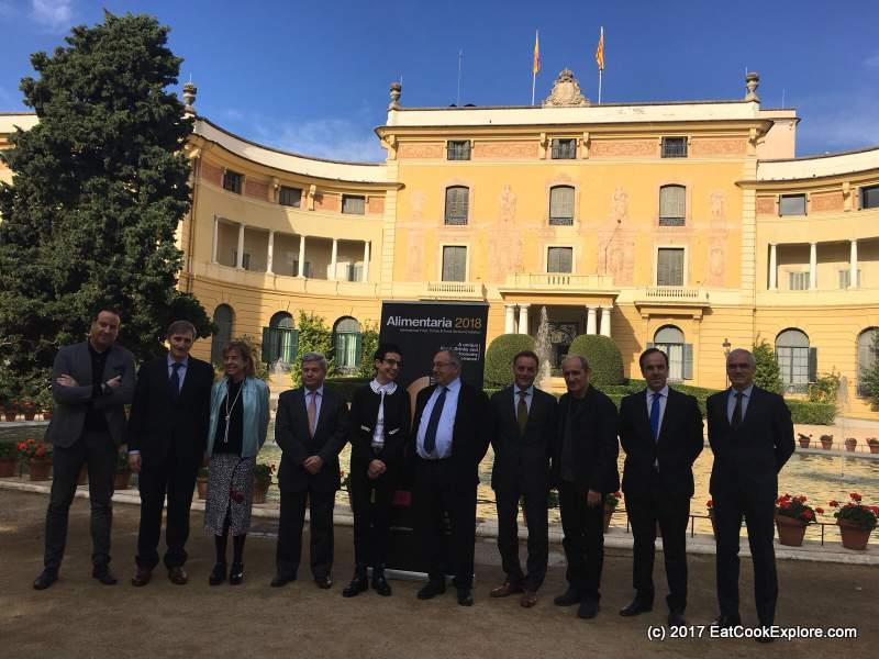 Press conference at the Palau Nacional