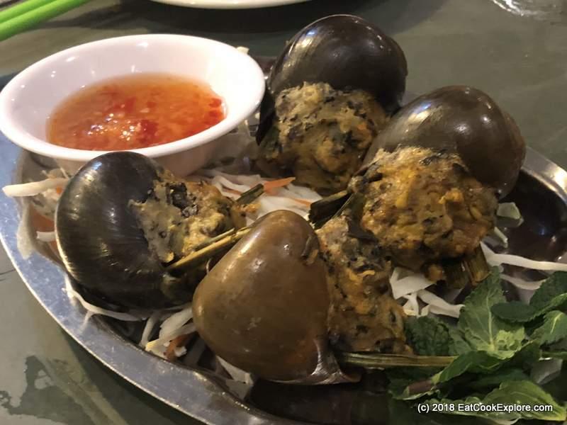 mrs les stuffed freshwater snails